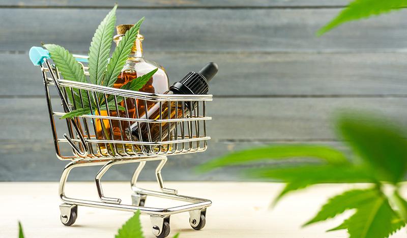 CBD oil in a shopping cart. where to buy hemp oil in hawaii?